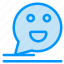 bubble, chat, comment, happy, mail icon
