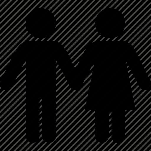 couple, heart, love, romantic, valentine icon