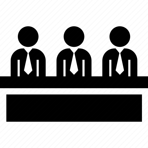 audition, executives, judgment, jury, test icon