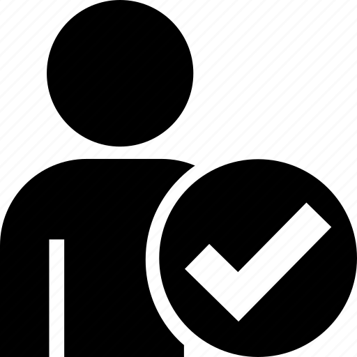 avatar, client, correct, profile, tick, user icon