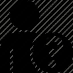 avatar, client, person, profile, question, unknown, user icon
