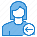 avatar, female, in, profile, user