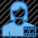 avatar, female, media, profile, user icon