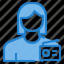 avatar, female, profile, radio, user