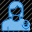 avatar, female, microphone, profile, record, user icon