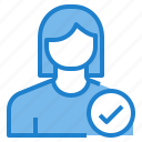 avatar, female, profile, safe, user icon