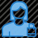 avatar, bag, female, profile, shopping, user icon