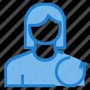 avatar, female, profile, undo, user