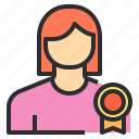 avatar, best, female, profile, trophy, user icon