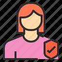 avatar, female, profile, safety, user