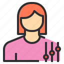 avatar, female, profile, setting, user icon