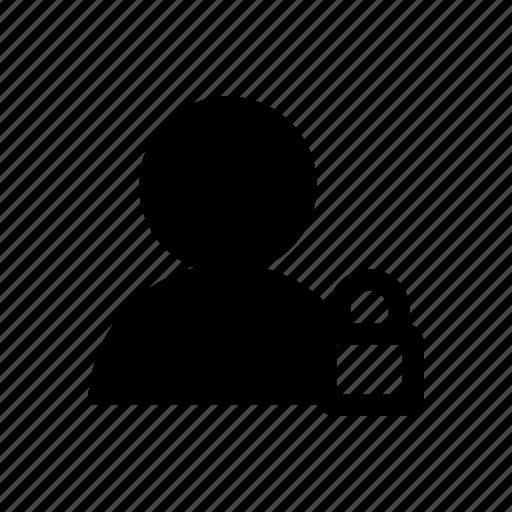 account, avatar, block, lock, profile, user icon