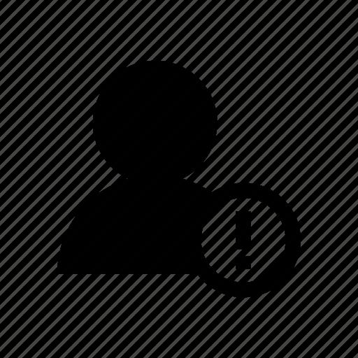 account, avatar, error, profile, user icon