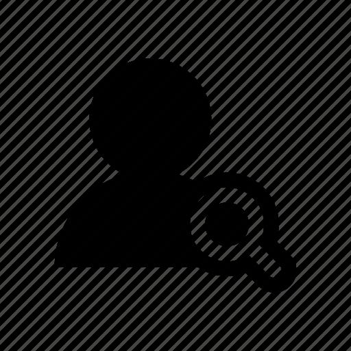 account, avatar, find, profile, search, user icon
