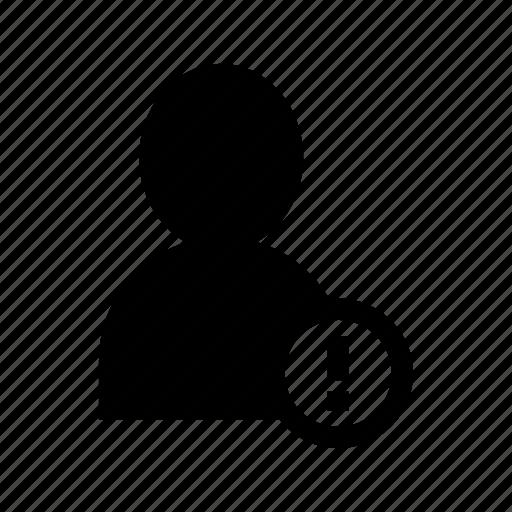 account, alert, error, person, profile, user icon