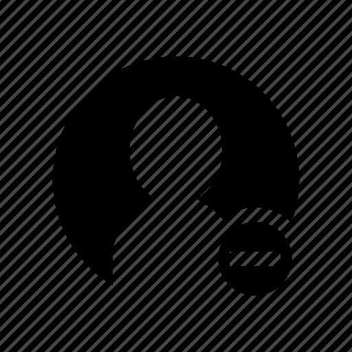 account, cancel, delete, profile, remove, user icon