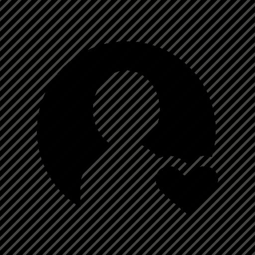 account, heart, love, profile, user icon