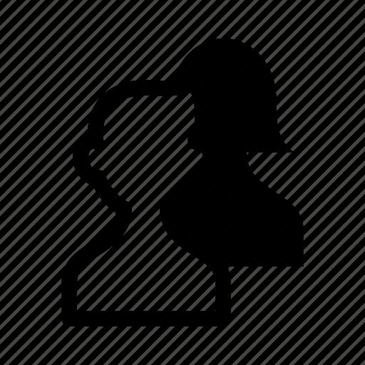 account, avatar, female, male, person, user icon