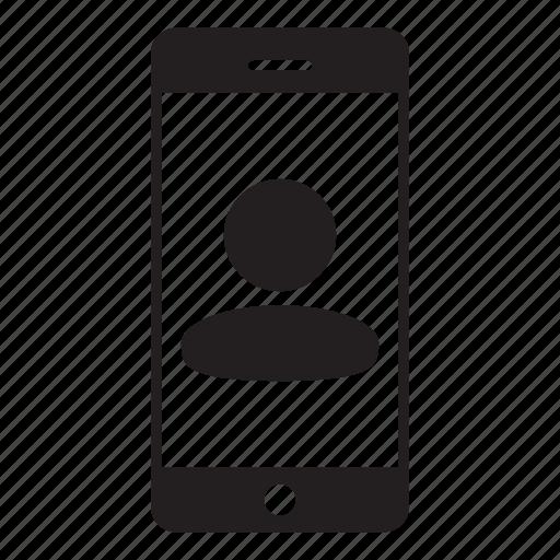 avatar, login, man, mobile, person, profile, user icon
