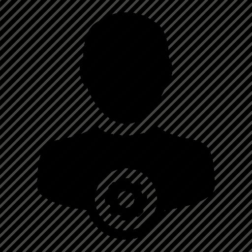 account, gear, human, man, settings, user icon