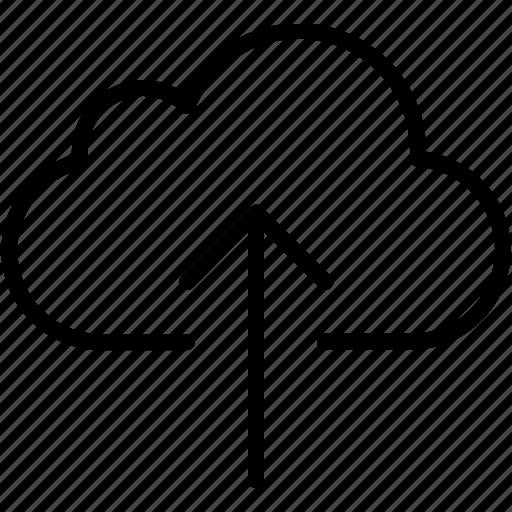 arrow, arrows, cloud, direction, navigation, up, upload icon