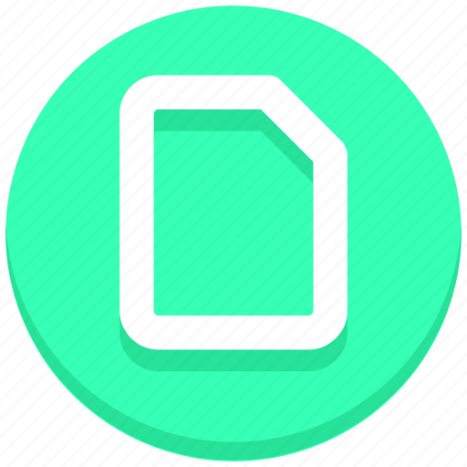 blank, document, interface, paper, user icon