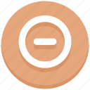 circle, interface, minimize, minus, remove, user icon