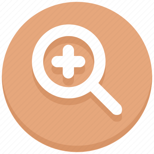 find, interface, magnifier, magnify glass, plus, search, user icon