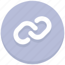 chain, connect, hyperlink, interface, user icon