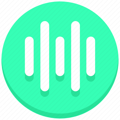 interface, media, music, sound, user, wave icon