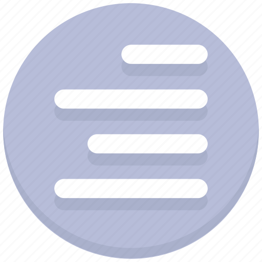 alignment, interface, right, text, user icon