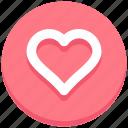favorite, heart, interface, like, love, user icon