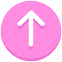 arrow, interface, up, upload, user icon