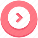 arrow, circle, interface, next, right, user icon