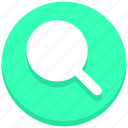 find, interface, magnifier, magnify glass, search, user icon