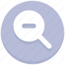 find, interface, magnifier, magnify glass, minus, search, user icon