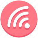 interface, signals, user, wifi icon