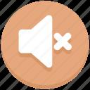 interface, mute, sound, speaker, user, volume icon