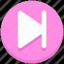 interface, media, next, track, user icon