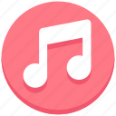 interface, music, note, song, user icon