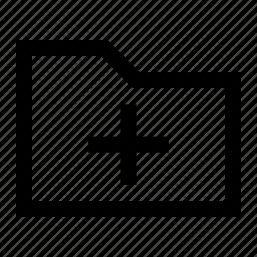 add, archive, folder, ui icon