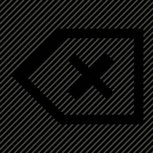 backspace, clear, delete, erase, ui icon