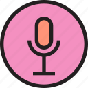 inteface, microphone, shape, ui icon