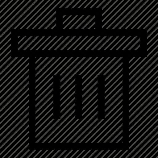 dump, garbage, remove, trash, trash bin, trash can icon