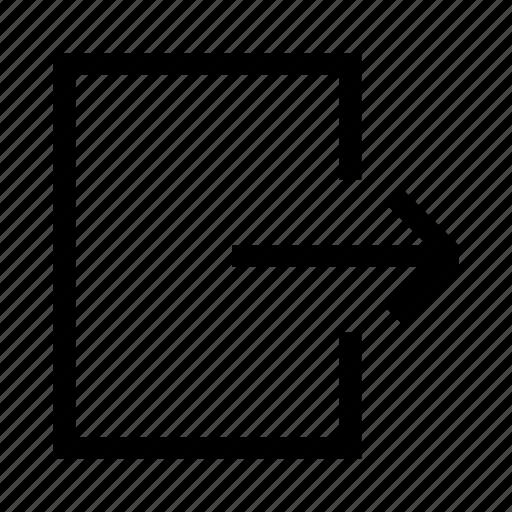 Door, exit, log out, outlet, upload icon - Download on Iconfinder