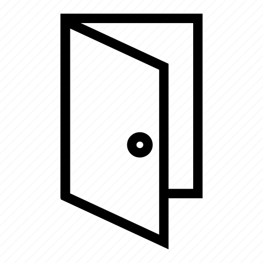door, enter, exit, log out, login, sign icon