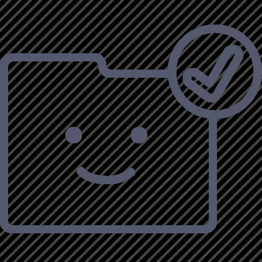 archive, checkmark, document, folder icon