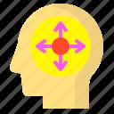 brain, enlarge, full, human, increase, screen, size icon