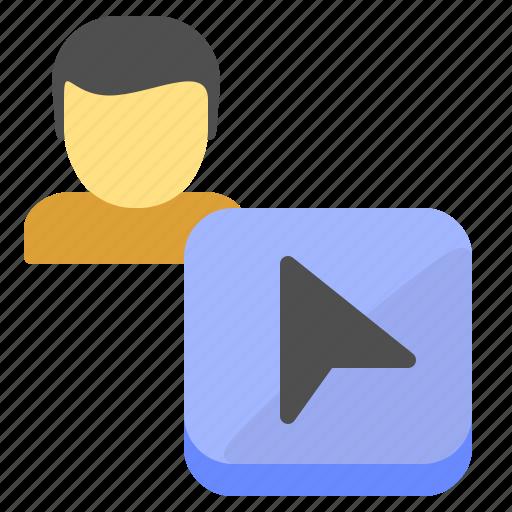 arrow, cursor, location, mouse icon