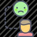 alone, connection, offline, sad, user icon